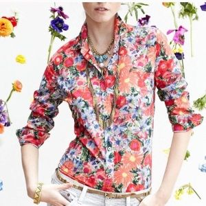 Anthropology | HD in Paris Floral Button Down Top